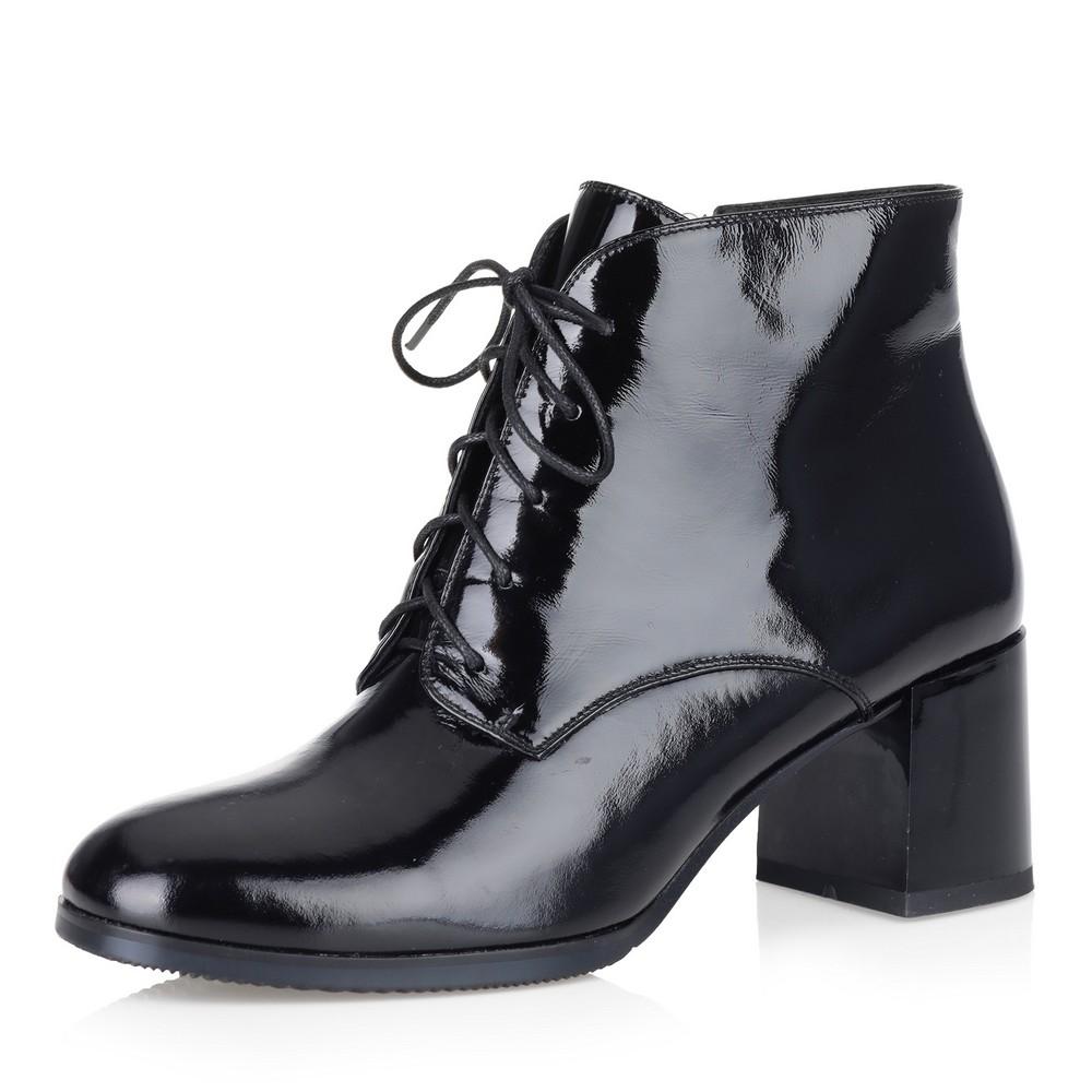 Купить со скидкой Черные ботильоны на шнуровке