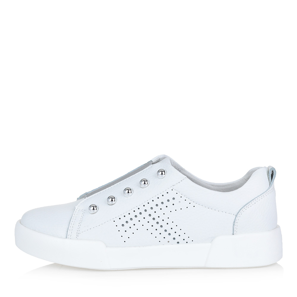 Белые кожаные кеды - купить в интернет-магазине ➦Respect