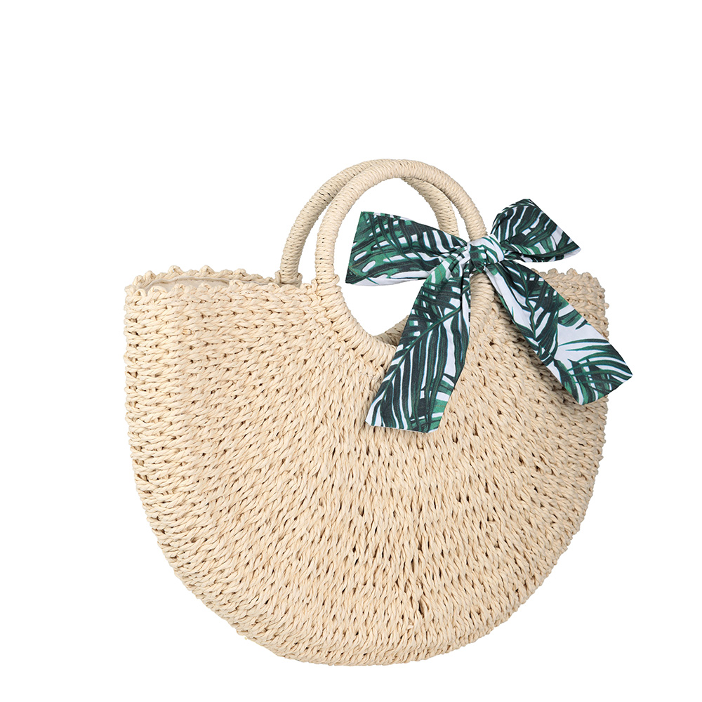 Пляжная сумка с декоративным платком фото