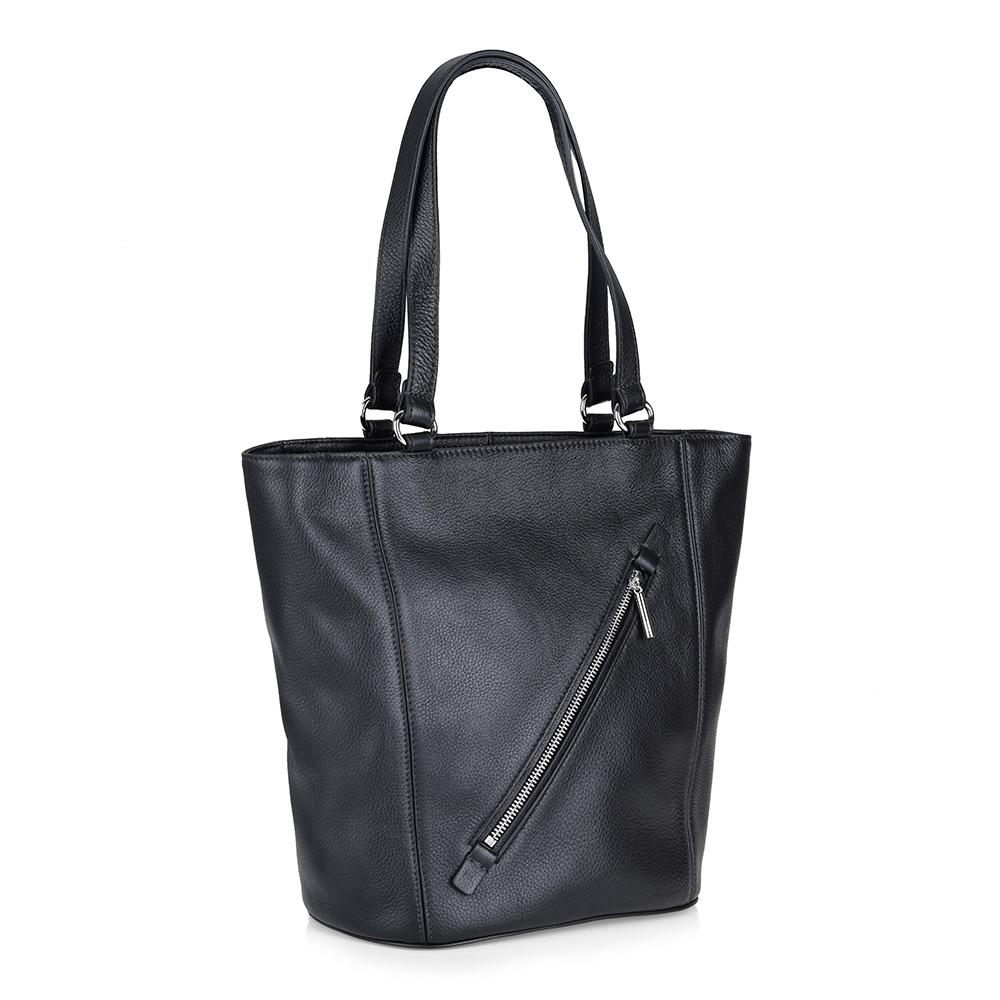Черная кожаная сумка фото