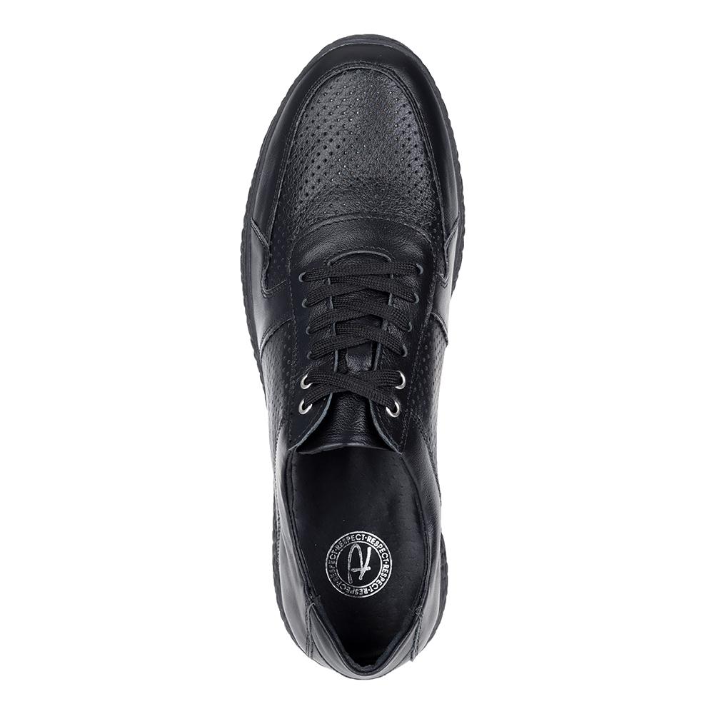 Черные кожаные кроссовки3
