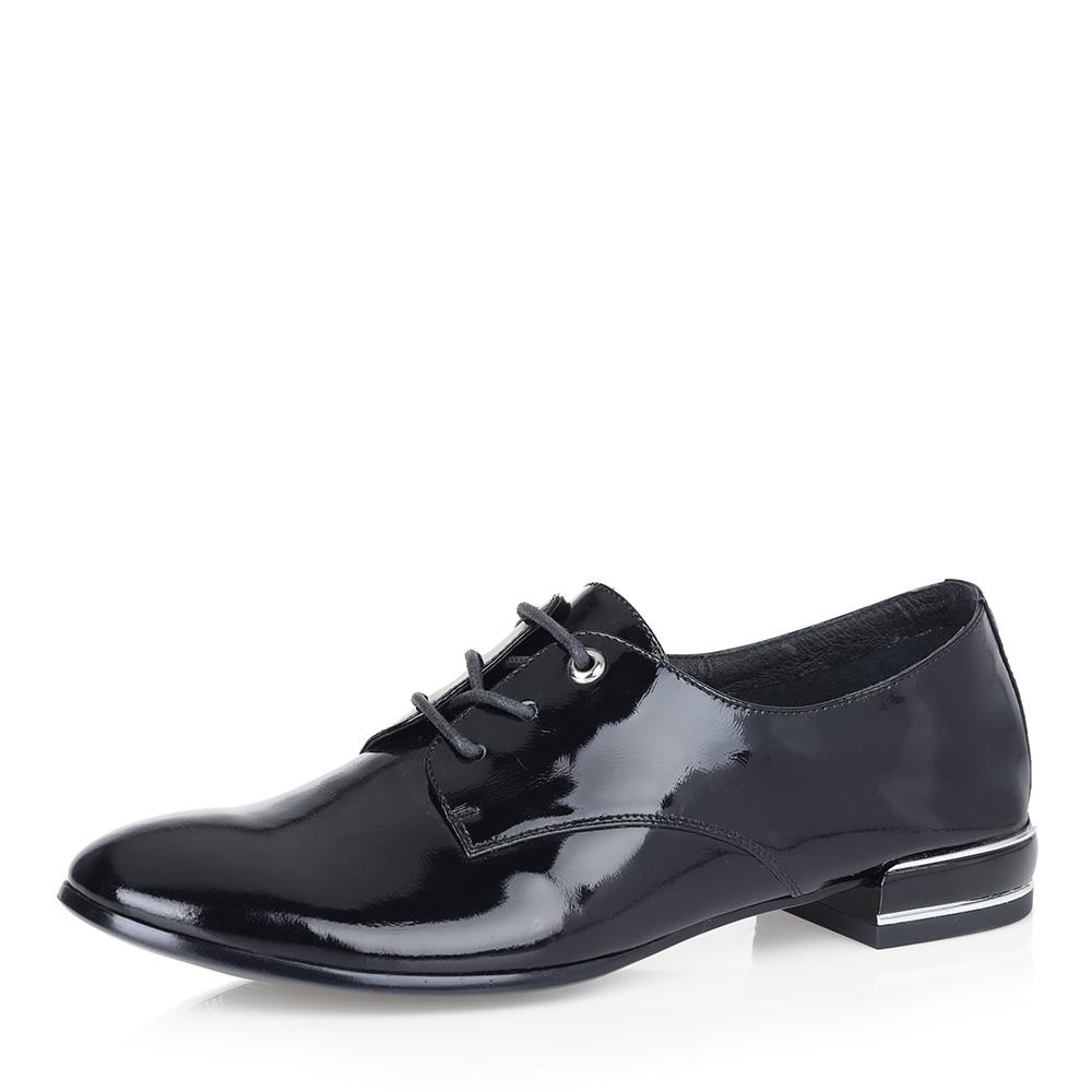 Черные полуботинки на декорированном каблуке фото
