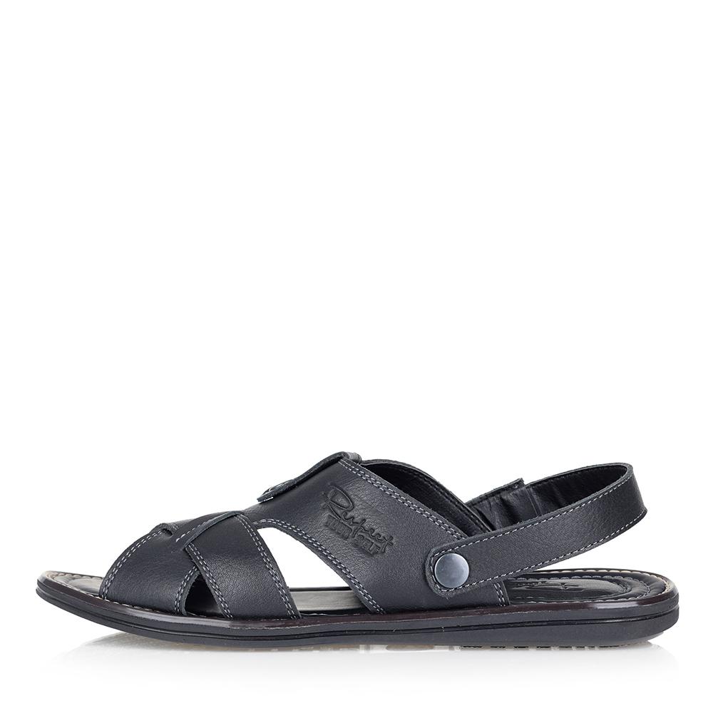 Купить со скидкой Черные сандалии из гладкой кожи