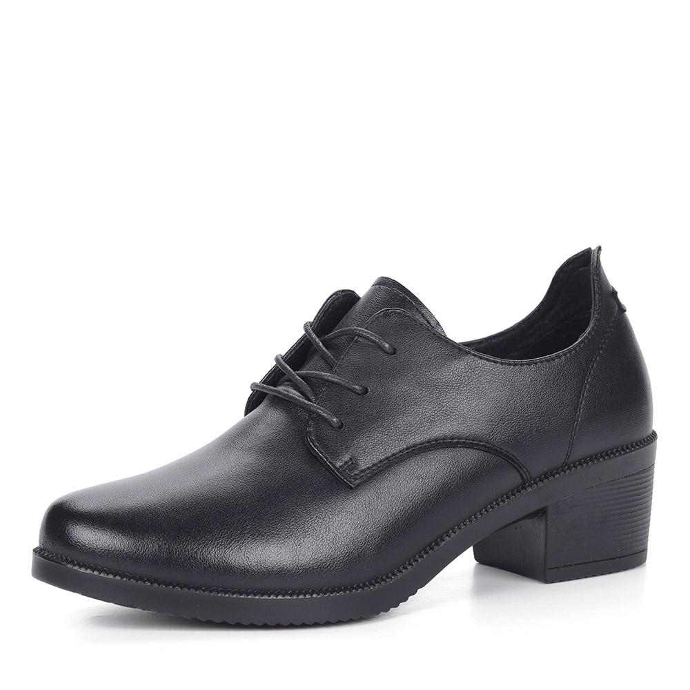 Черные полуботинки на каблуке