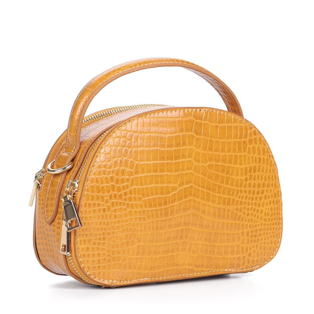 Желтая сумка с дополнительной ручкой