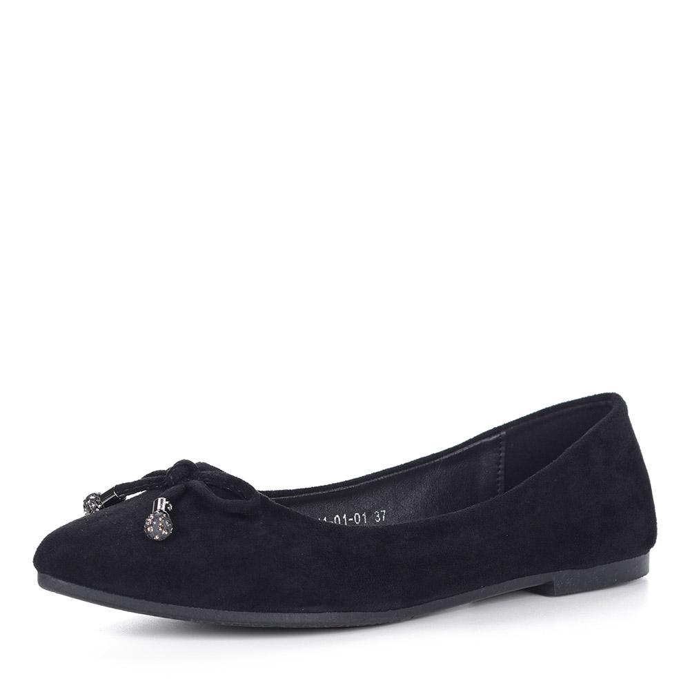 Черные балетки из текстиля