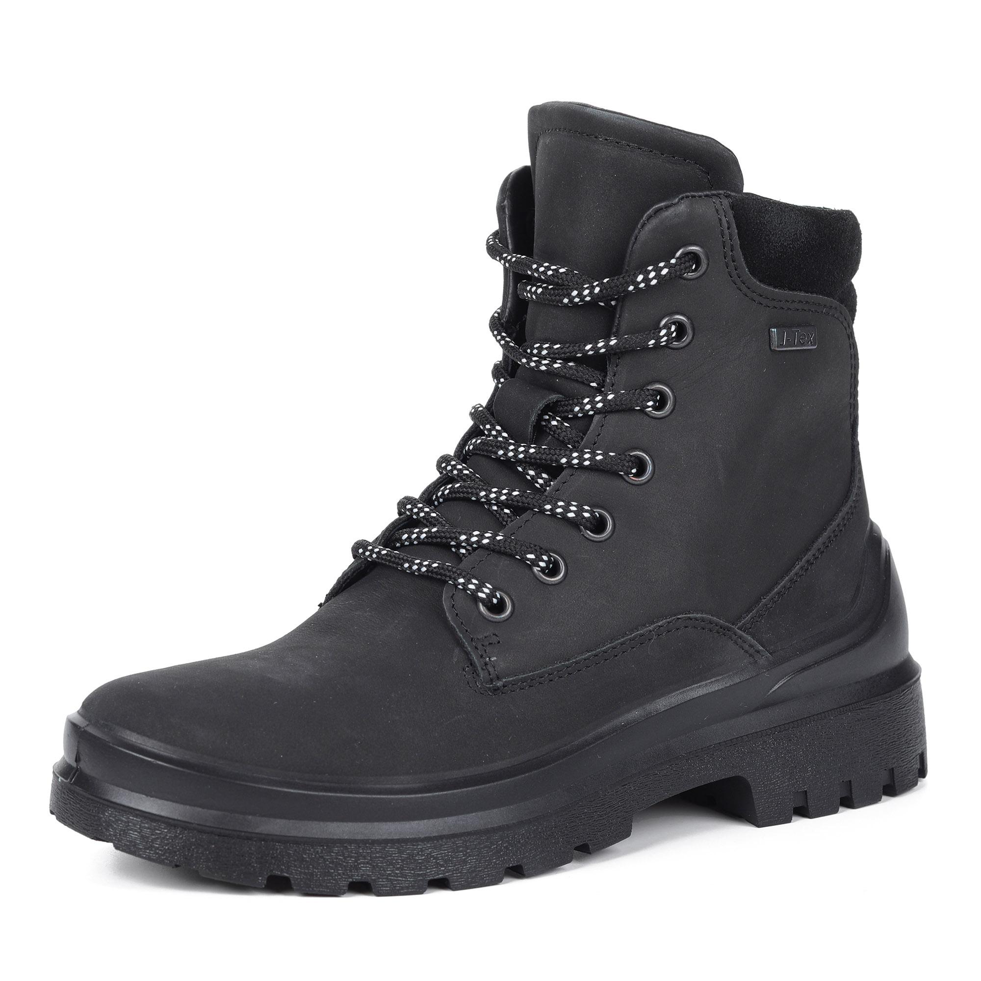 Черные ботинки из нубука повторяющую форму стопы