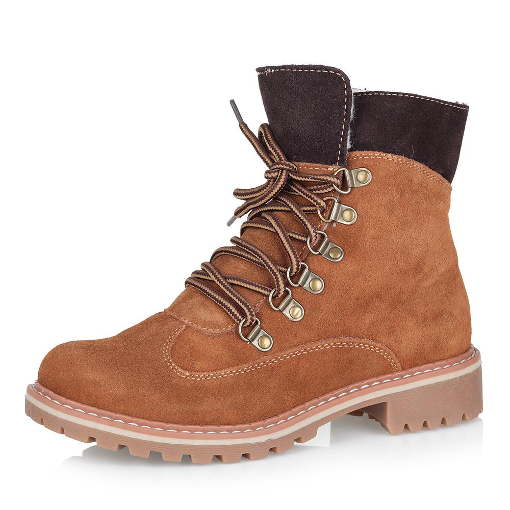 Коричневые утепленные ботинки