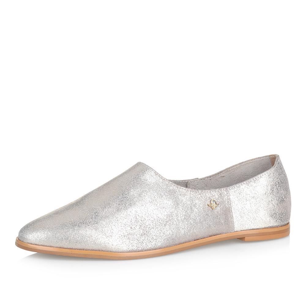 Золотистые мягкие туфли фото