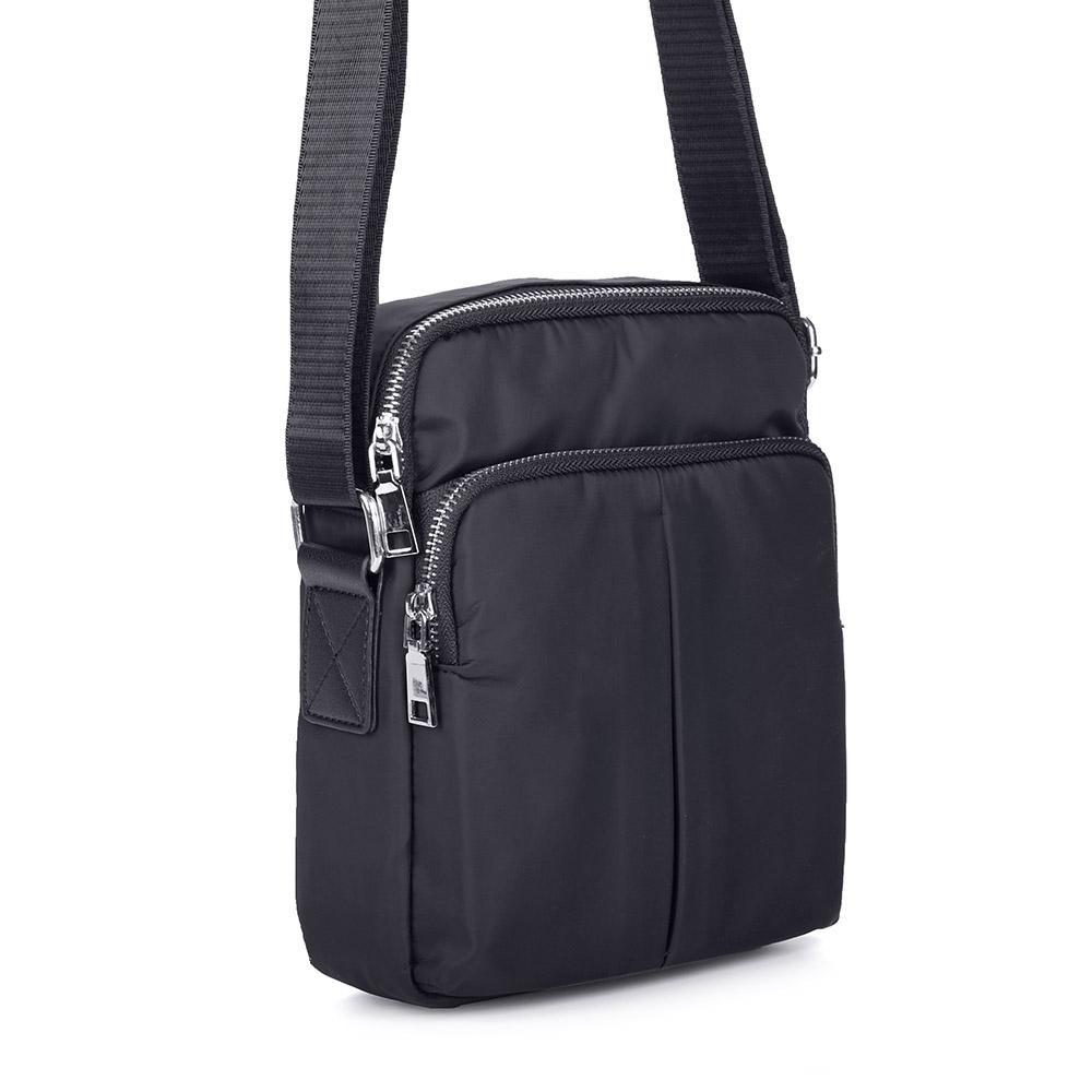 Купить со скидкой Черная сумка из текстиля через плечо