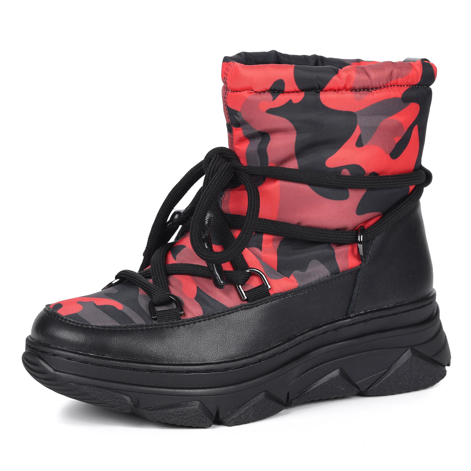 Черно-красные дутики на декоративной шнуровке
