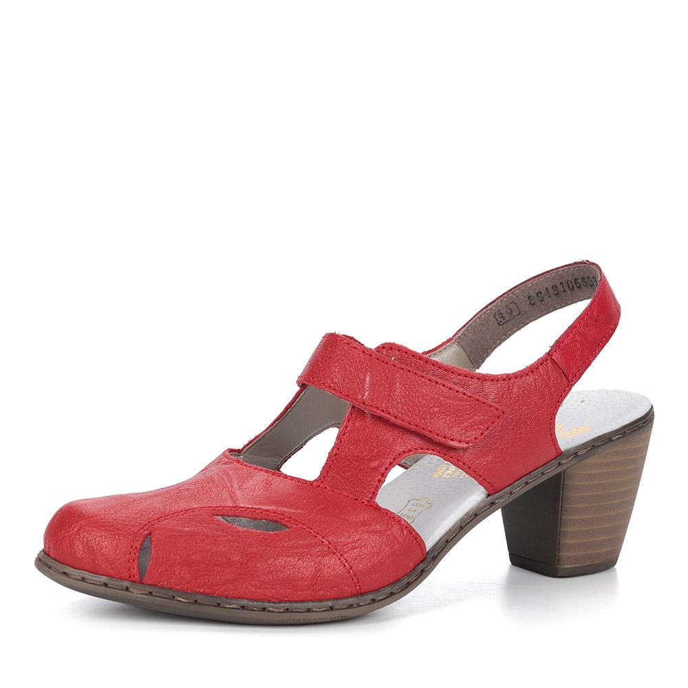 Красные кожаные босоножки фото