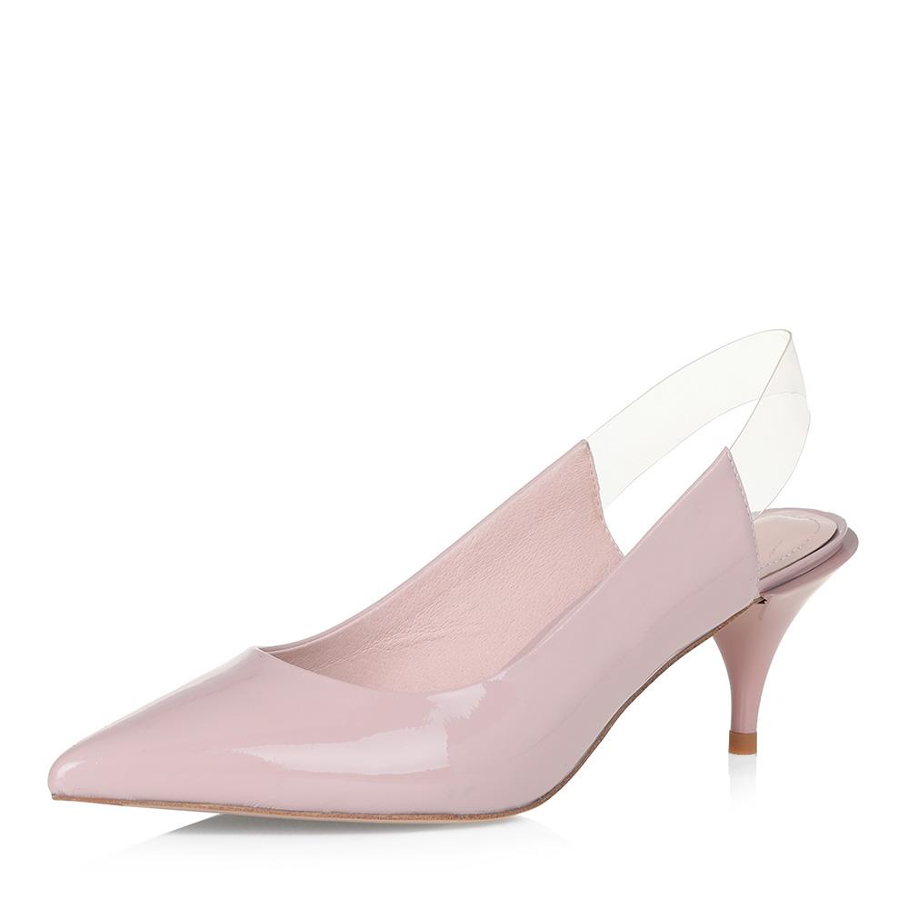 Розовые открытые туфли с прозрачной вставкой Respect