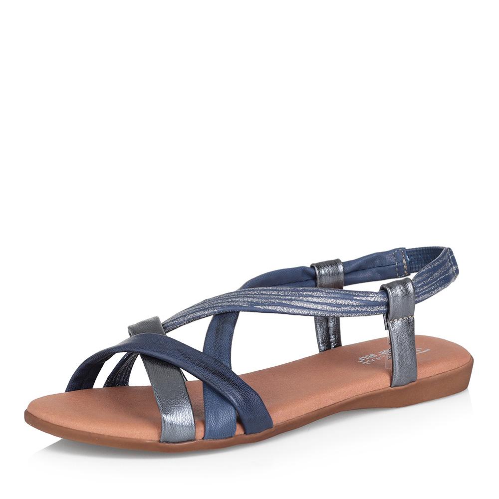 Кожаные сандалии с комбинированными ремешками фото