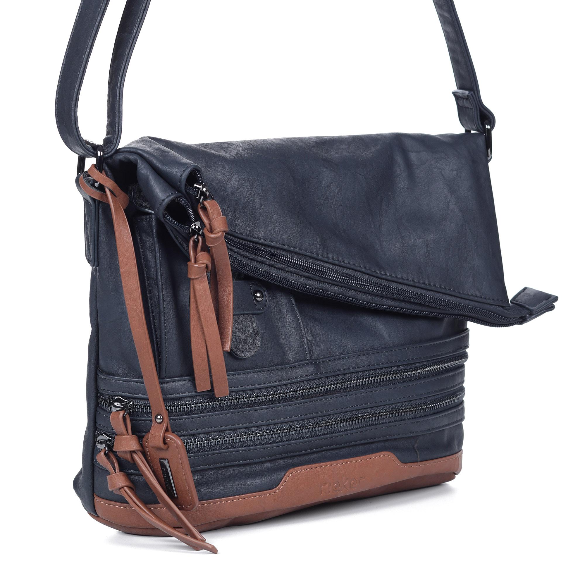 Синяя сумка из эко кожи