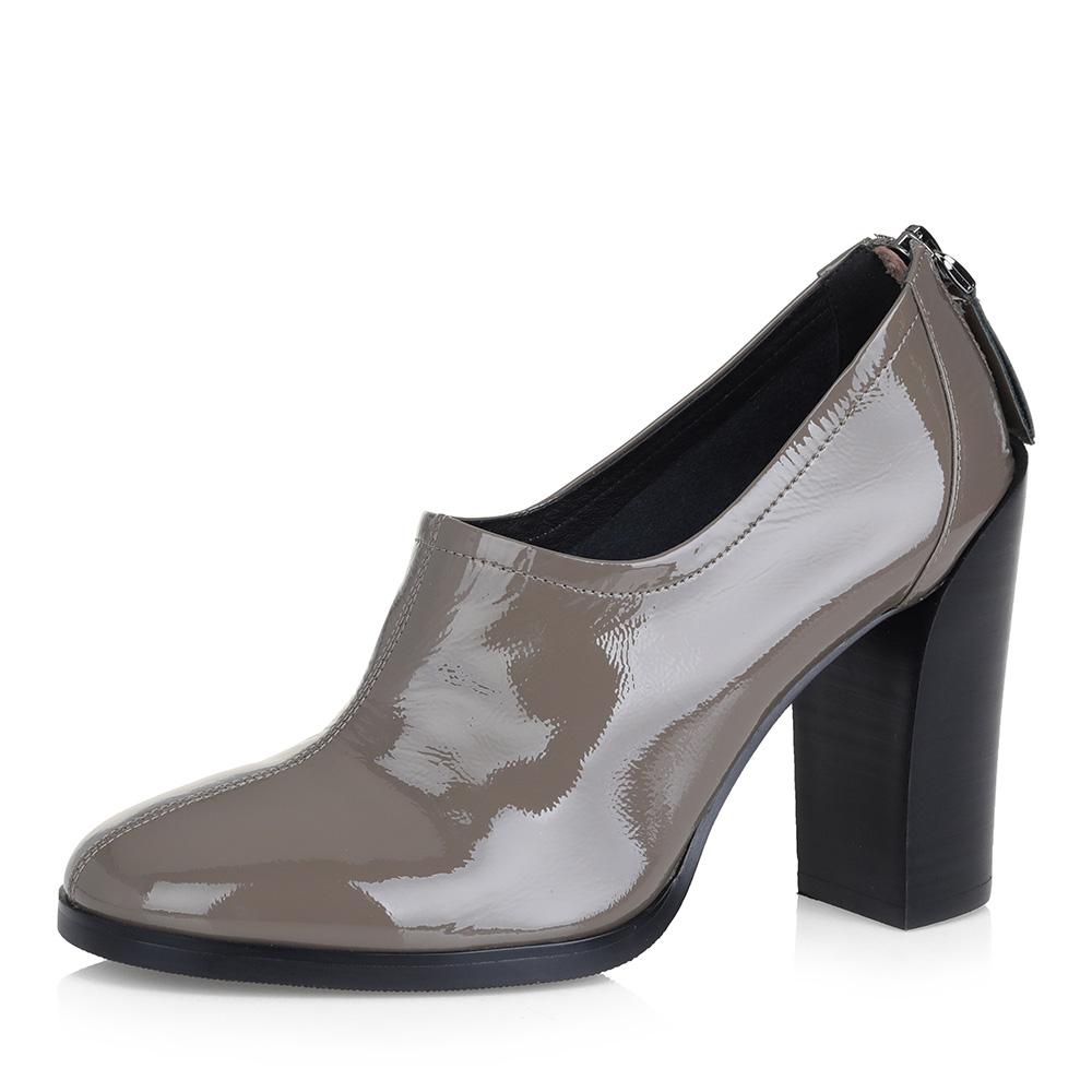 Темно-бежевые закрытые туфли фото
