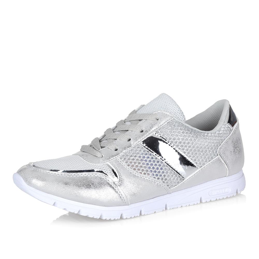 Комбинированные кроссовки в белом цвете фото