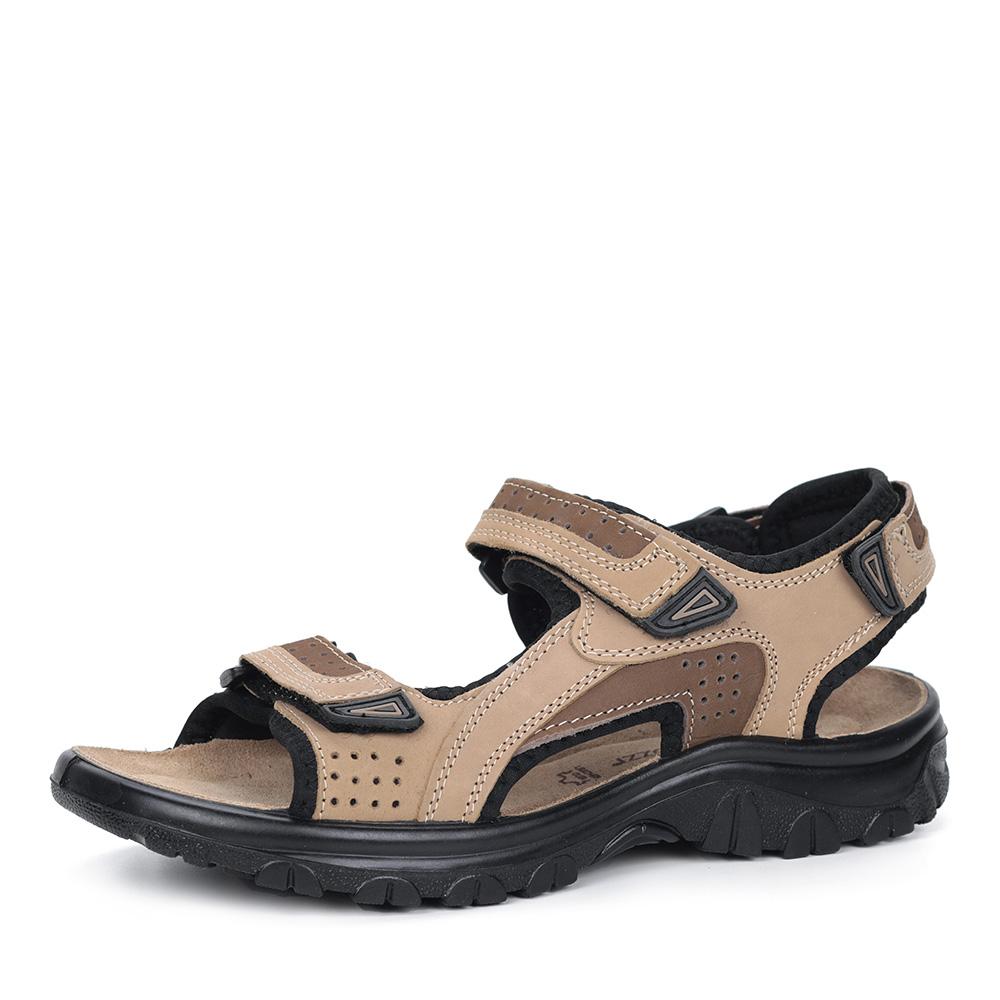 Бежевые сандалии из нубука фото