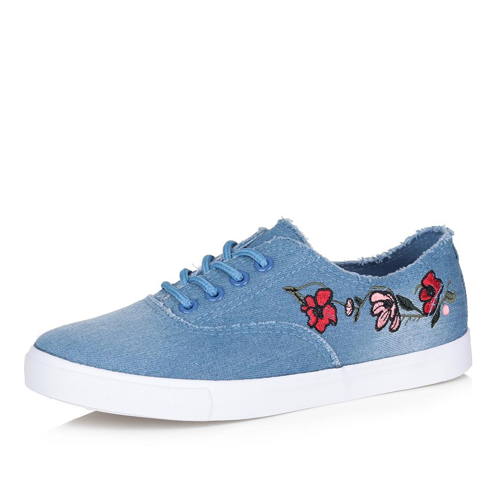 Купить со скидкой Голубые кеды с цветочным принтом
