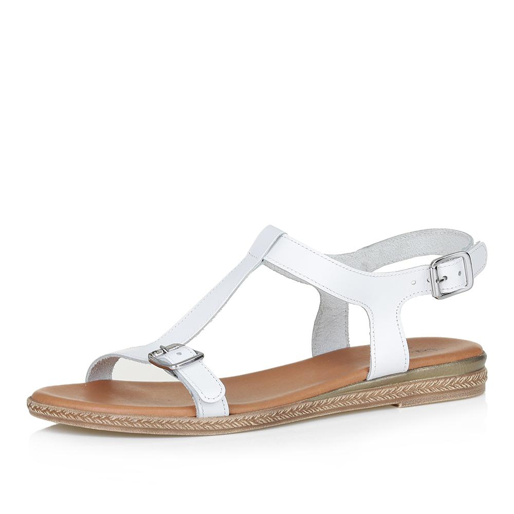 Фото #1: Белые сандалии с ремешком на подъеме