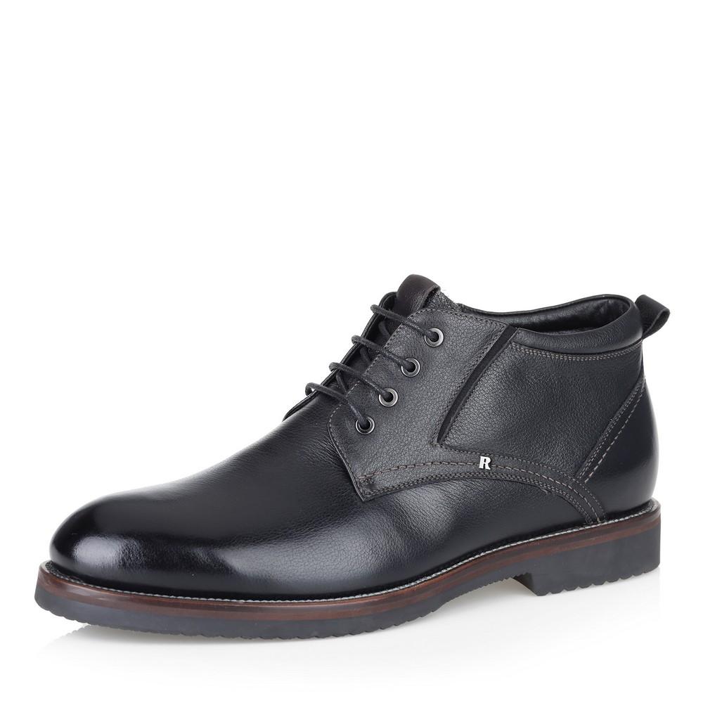 Фото #1: Черные ботинки с увеличенной полнотой