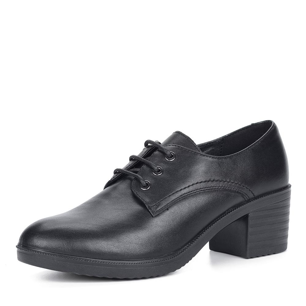 Черные закрытые туфли на устойчивом каблуке