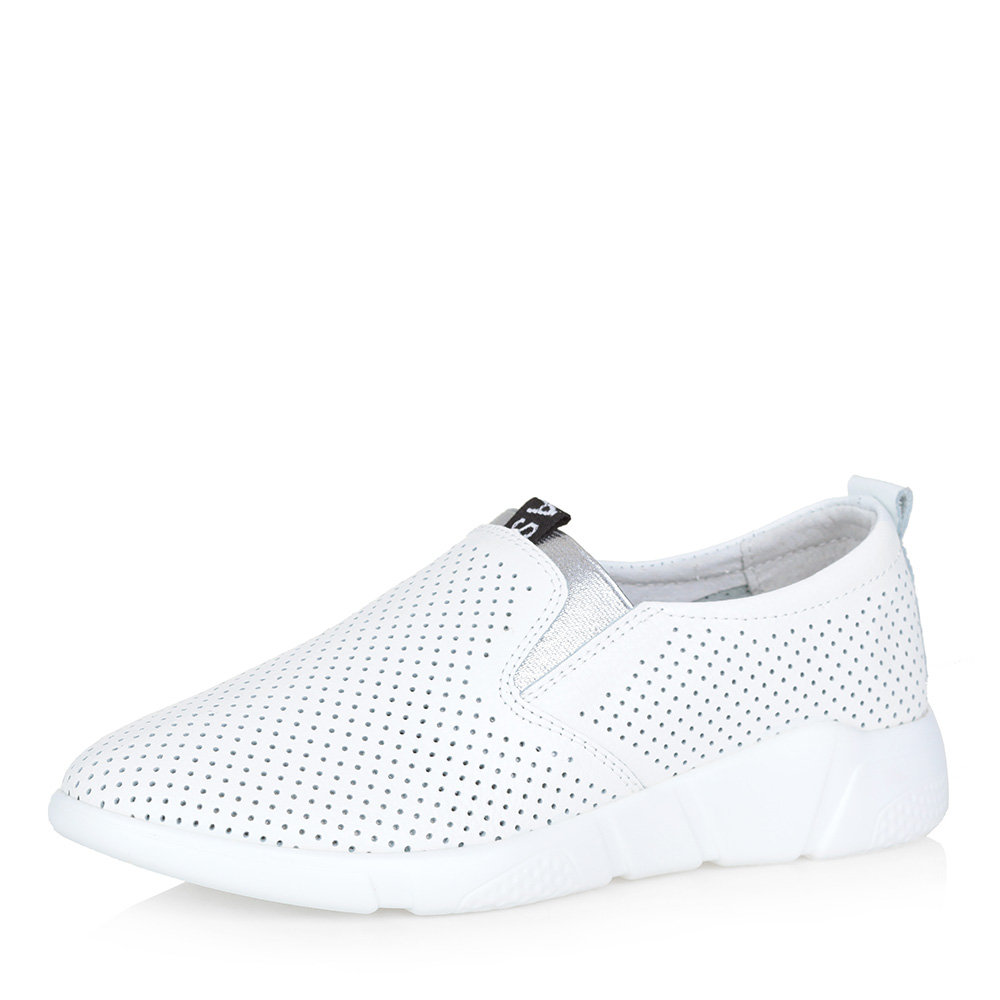 Белые кроссовки без шнуровки фото