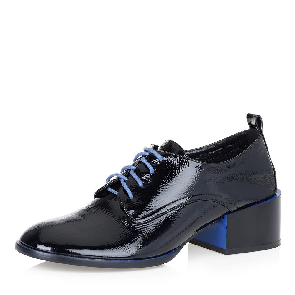 Черные туфли на квадратном каблуке фото