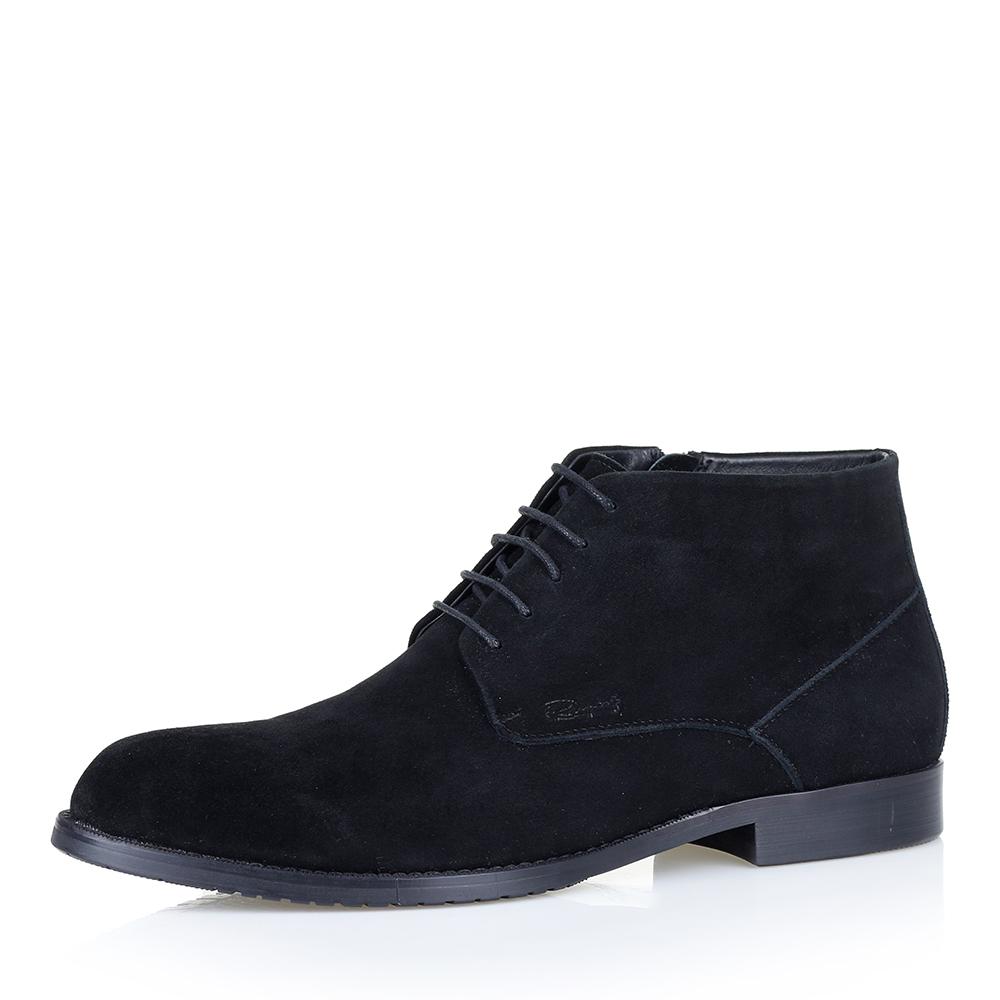 Купить со скидкой Ботинки из велюра чёрного цвета на меху