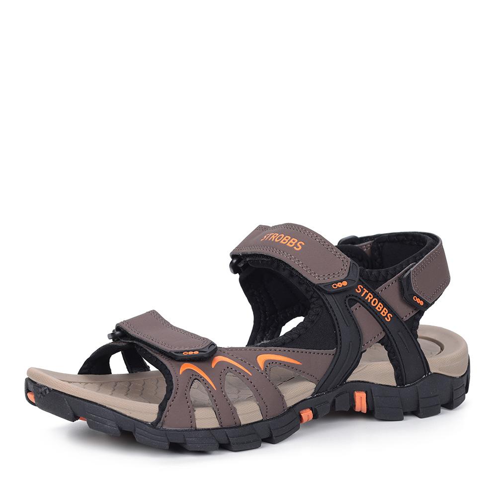 Коричневые сандалии из нубука фото