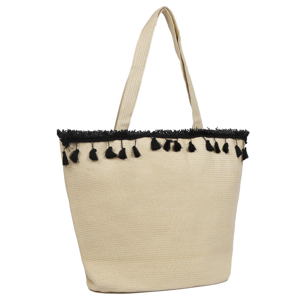 Бежевая пляжная сумка фото