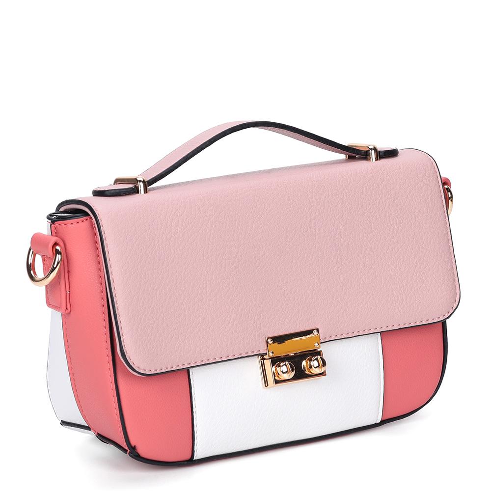 Розовая сумка с дополнительной ручкой фото