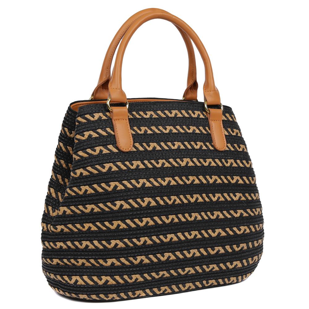 Комбинированная пляжная сумка с жесткой основой фото
