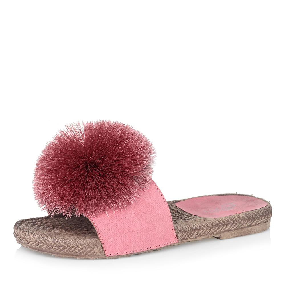 Розовые пантолеты с помпоном Respect