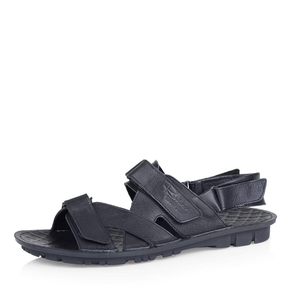 Черные кожаные сандалии фото
