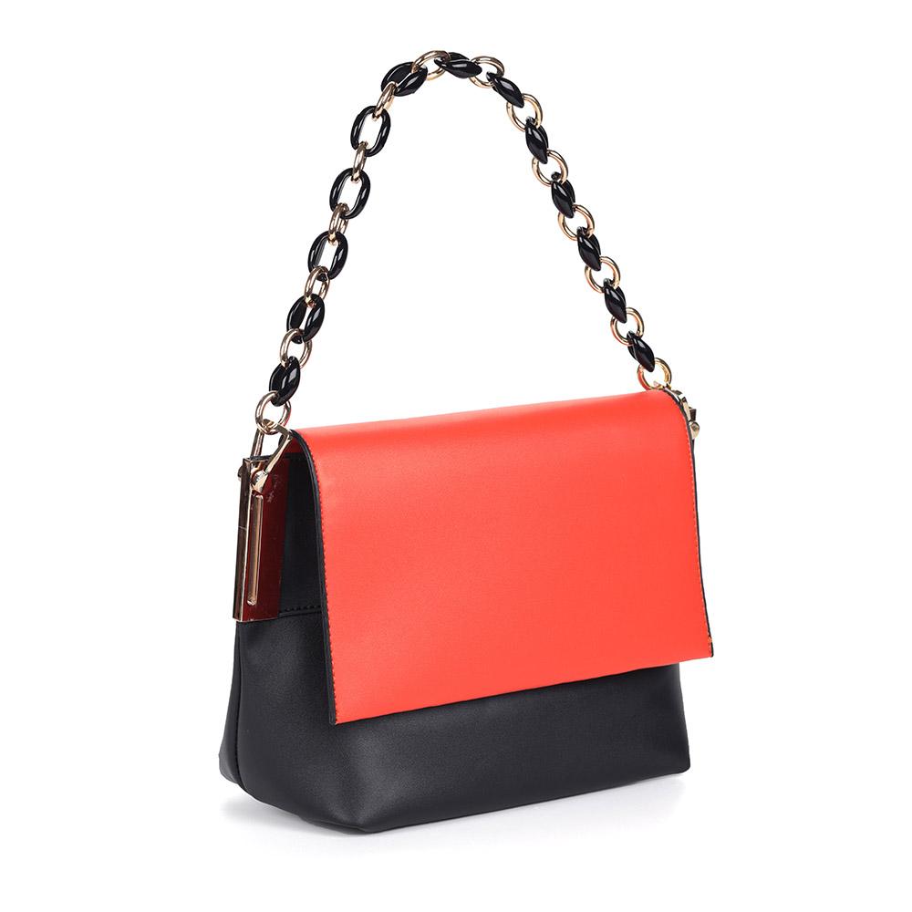 Оранжево-черная сумка на плечо