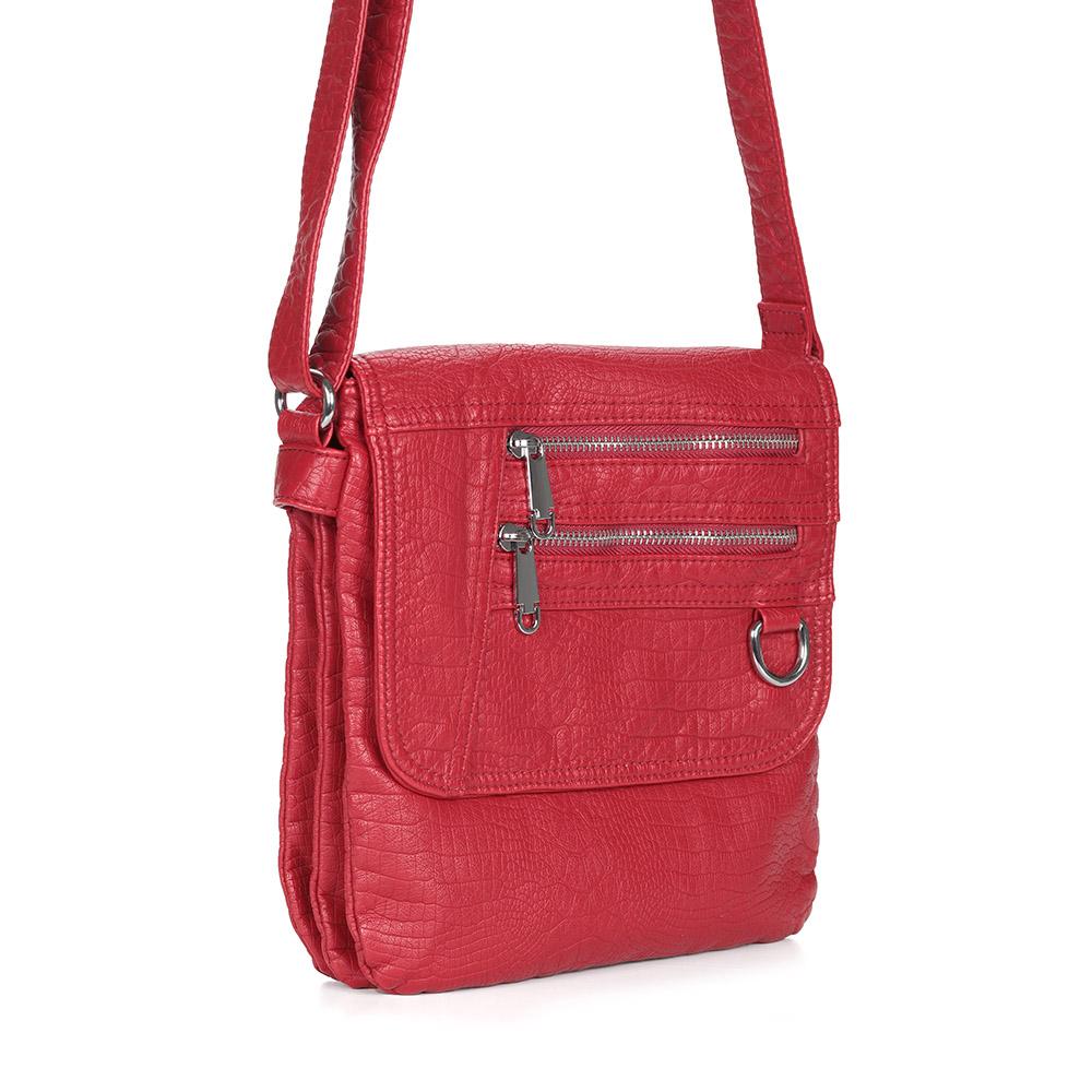 Красная сумка на плечо