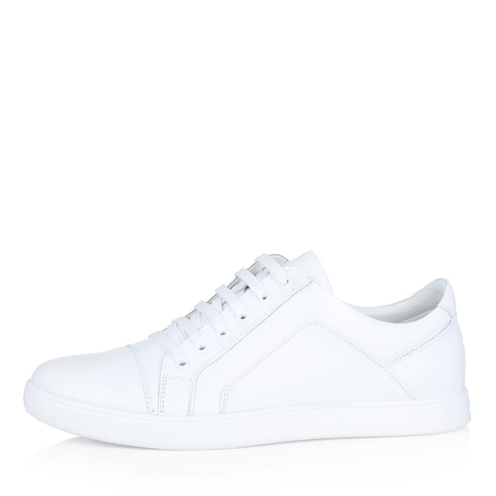 Белые кожаные кеды фото
