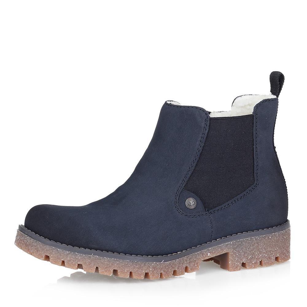 Купить со скидкой Синие ботинки на шерсти