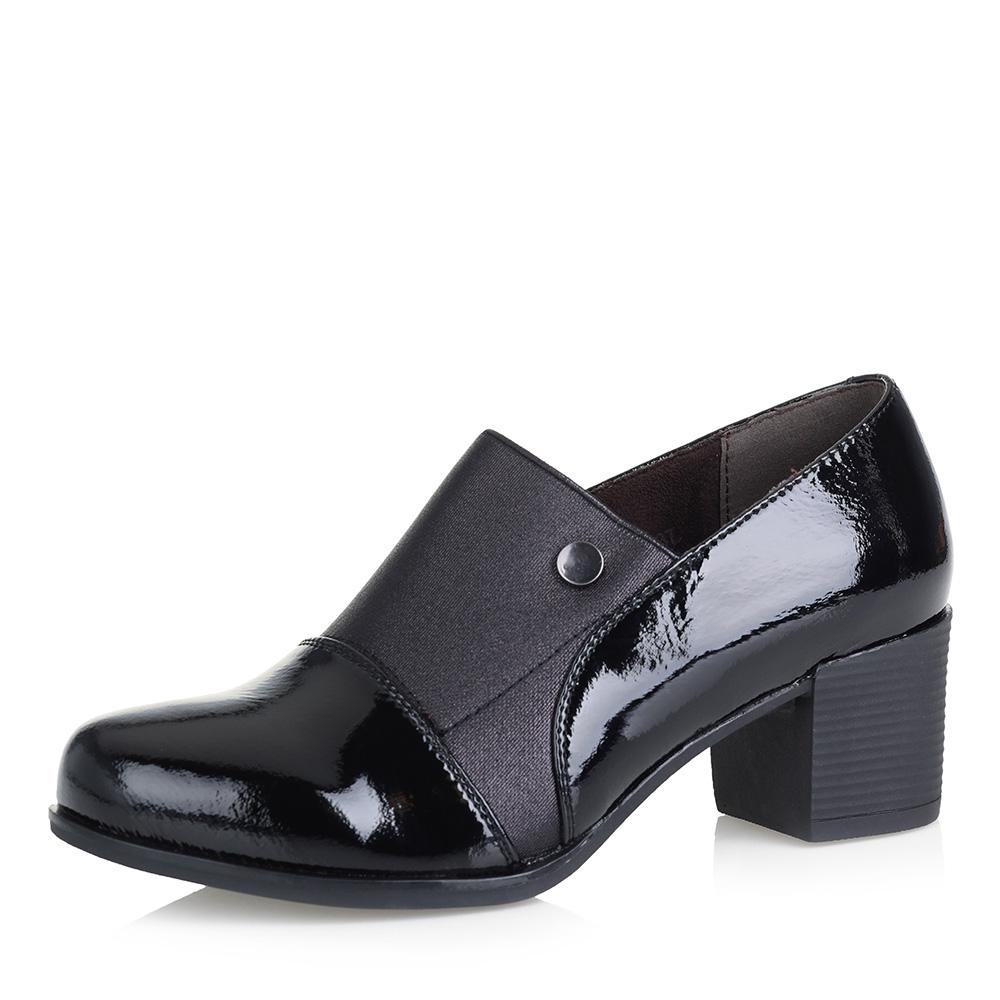 Черные туфли на устойчивом каблуке фото