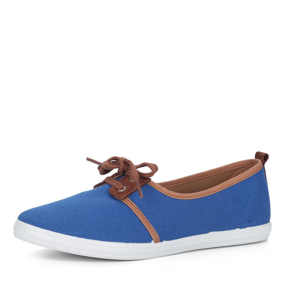 Синие туфли из текстиля