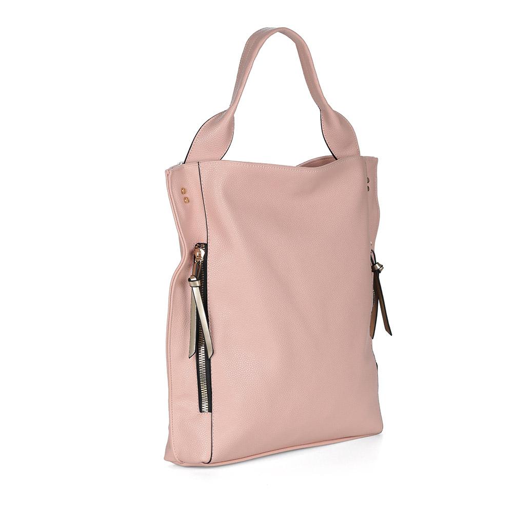 Розовая вместительная сумка фото