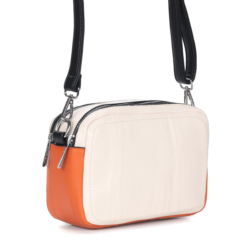 Бежево-оранжевое кроссбоди