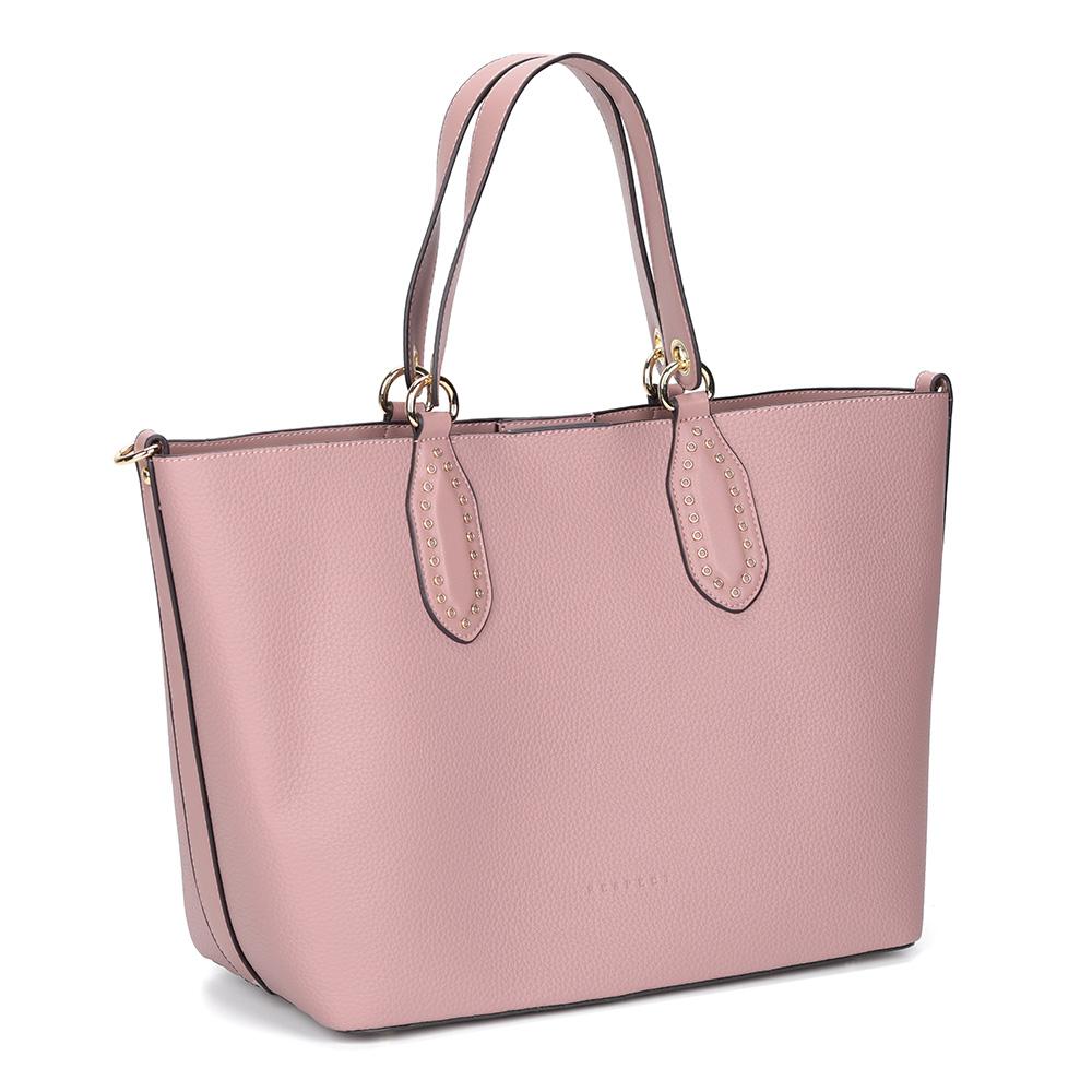 Розовая сумка трансформер. В комплекте клатч, кошелек и косметичка фото