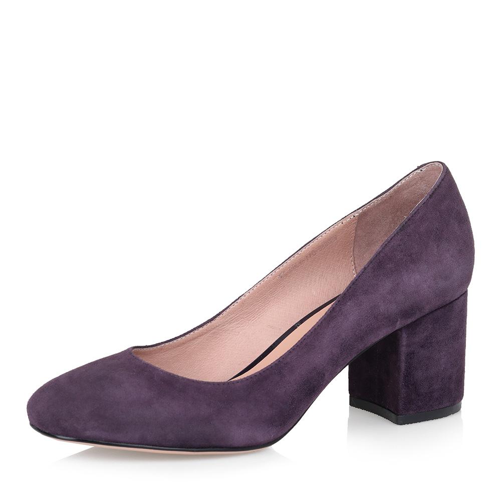 Фиолетовые туфли-лодочки из велюра фото
