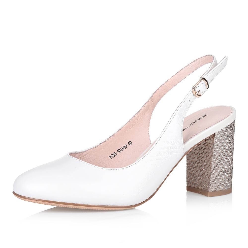 Белые босоножки на высоком устойчивом каблуке фото