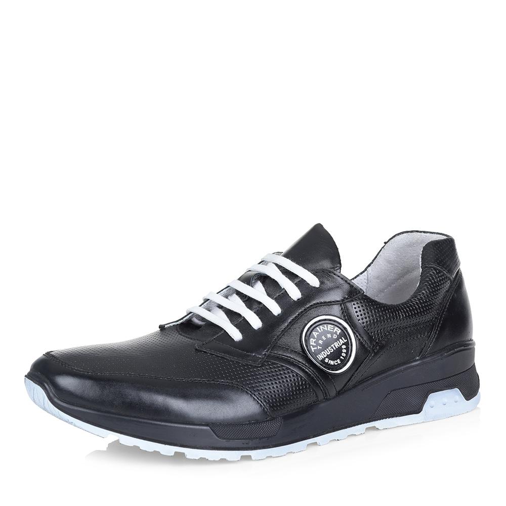 Фото #1: Черные кроссовки с белой шнуровкой