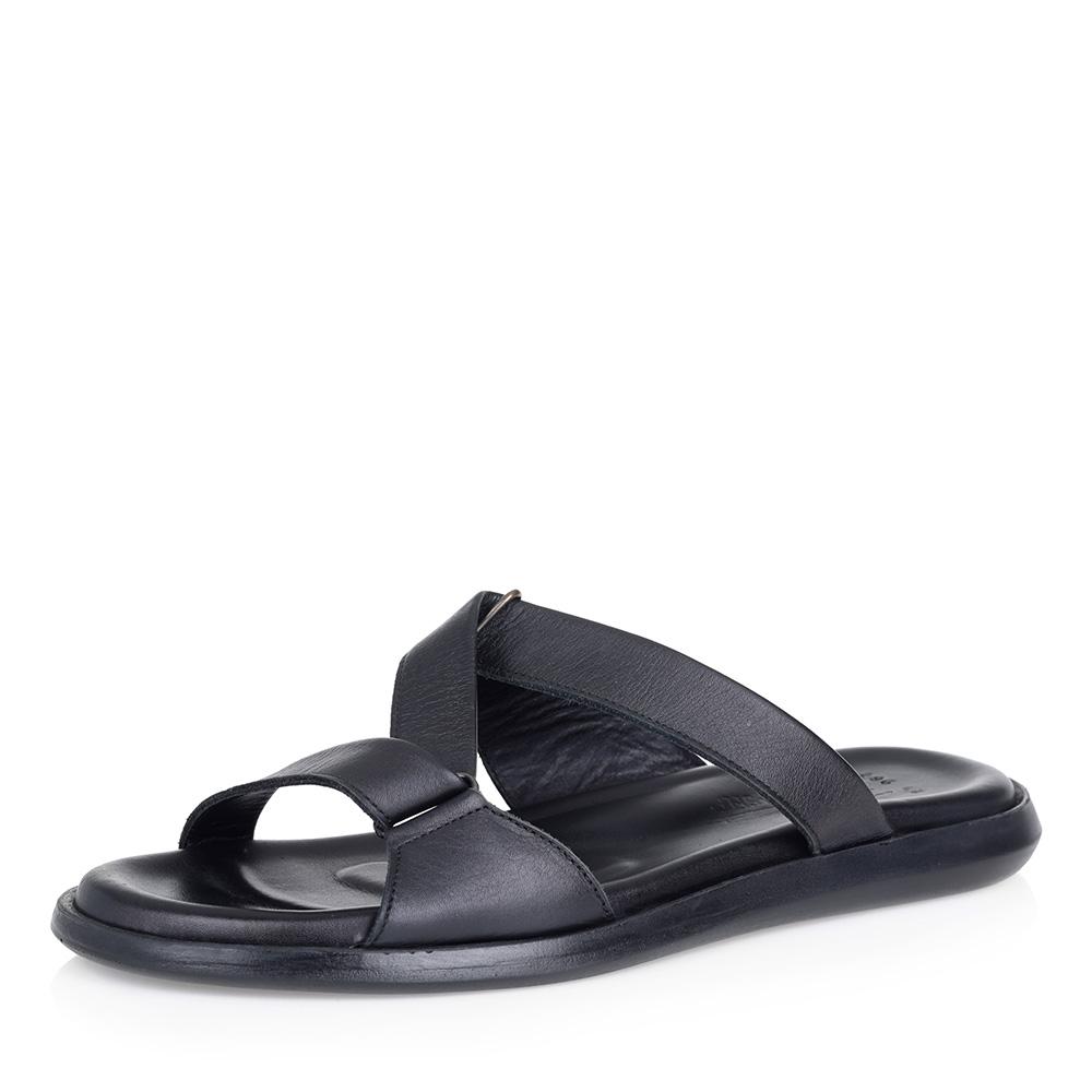 Купить со скидкой Черные кожаные пантолеты