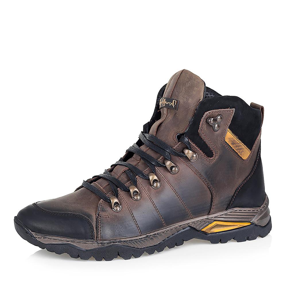 Комфортные коричневые ботинки на меху