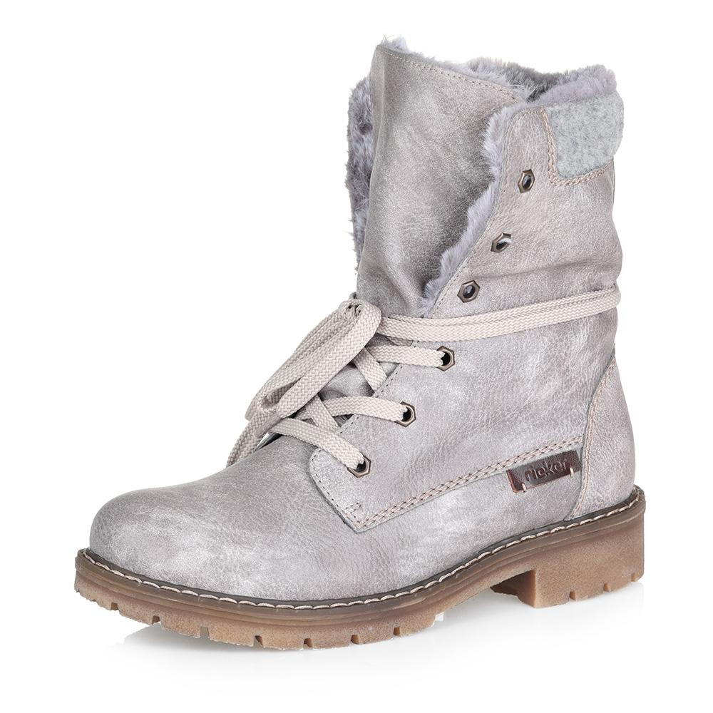 Серые утепленные ботинки